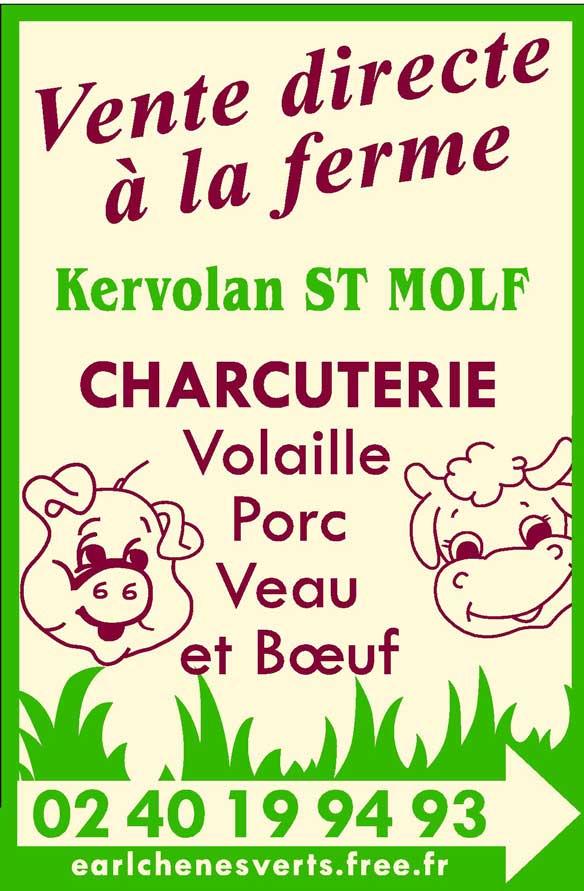 Διαφημιστική αφίσα για πώληση vente directe κρέατος πουλερικών, χοιρινό, μοσχαρίσιο και βόιο